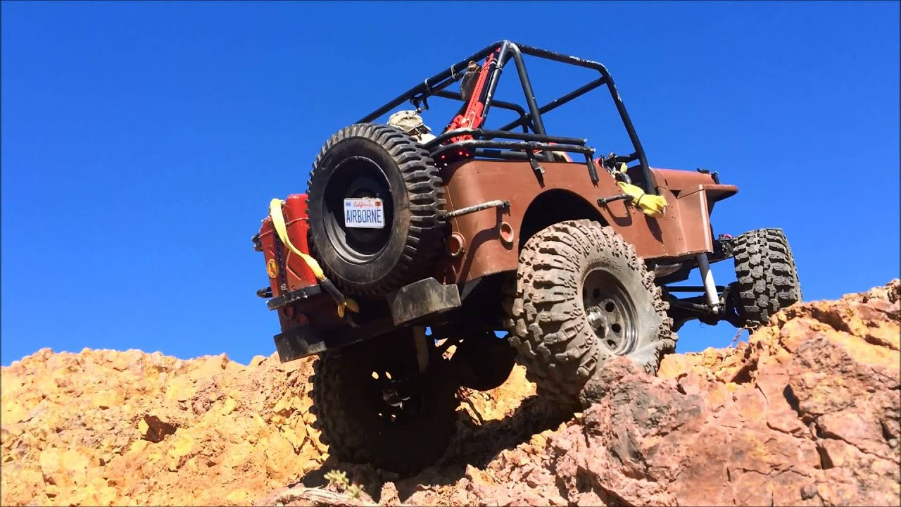 Jeep Rock Crawler >> rc Willys Jeep 17 - rock crawling & scale trail adventure with Warn winch action @ Coyote - YouTube