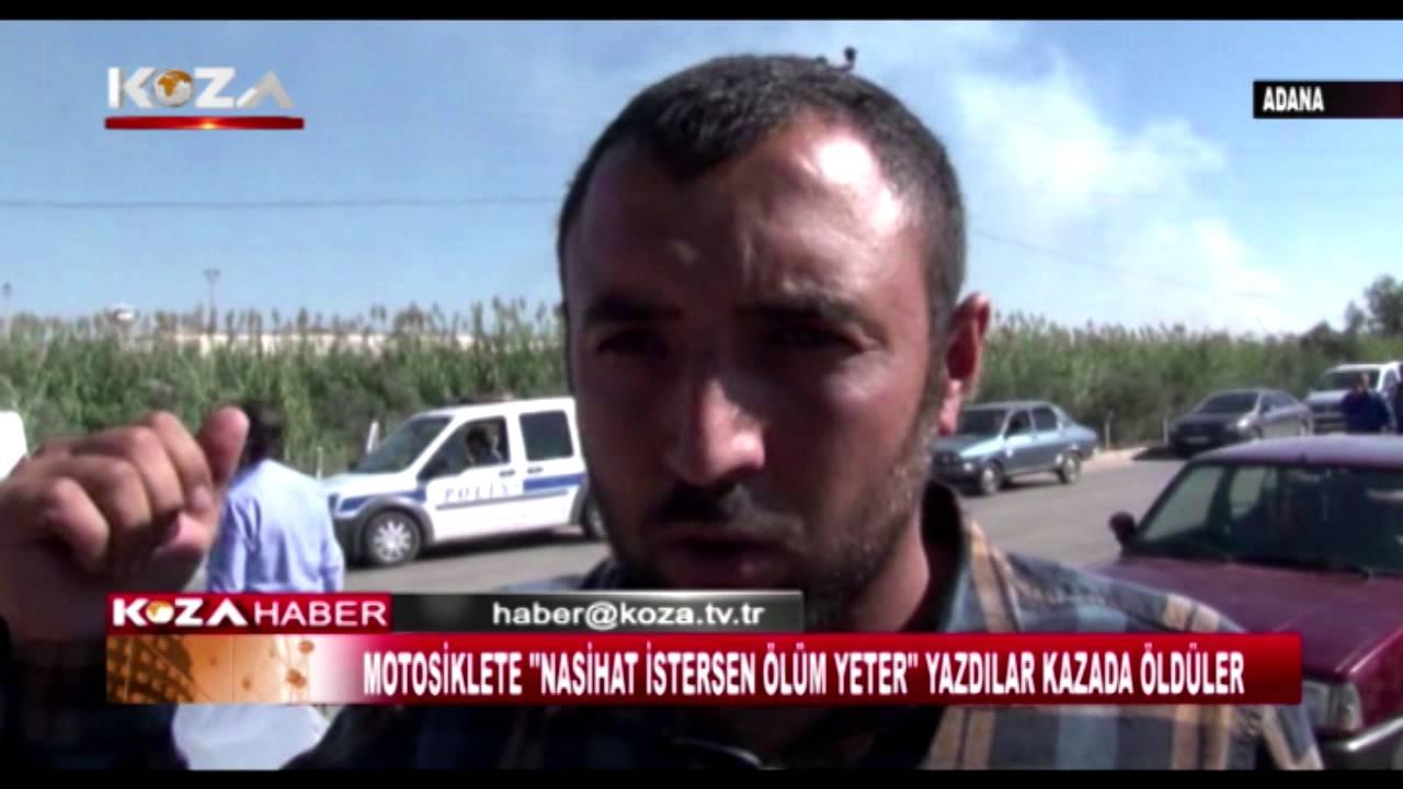 ADANA'DA FECİ KAZA MOTORSİKLET KAMYONUN ALTINDA KALDI 2 ÖLÜ