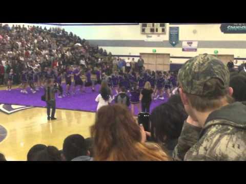 Spanish Springs High School BB Homecoming cheerleading routine