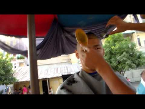 Street Barber Haircut | Phnom Penh