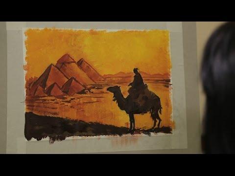 Как нарисовать египетские пирамиды