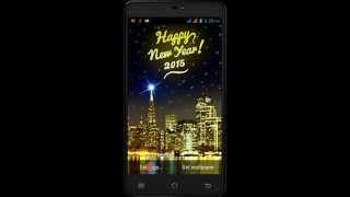 New Year 2015 Fireworks and sparks Live Wallpaper Trailer