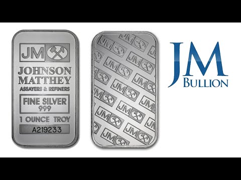 1 oz Johnson Matthey Silver Bar ➜ JMBullion.com