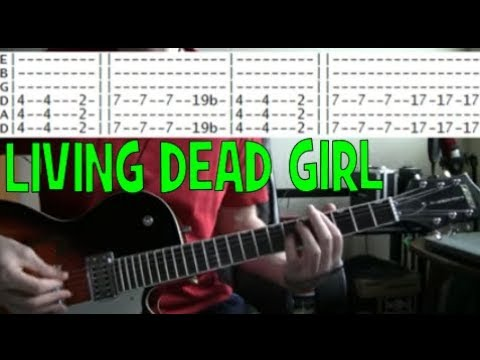 Rob zombie Living Dead Girl Guitar Tab Chords Lesson - YouTube
