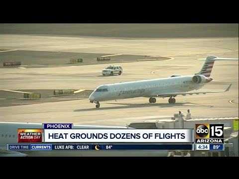 Excessive heat in Phoenix affecting flights to, from Sky Harbor Airport