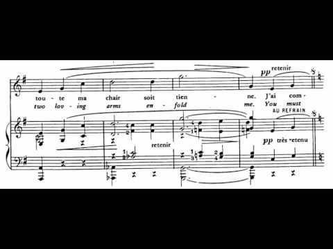 Je Te Veux (E. Satie) Score Animation