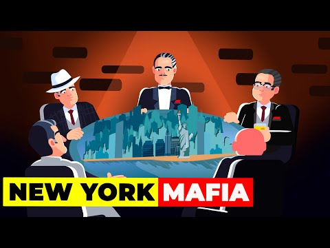 New York Mafia: What's happening to the Five Powerful Families?   Crime and Money Infographics