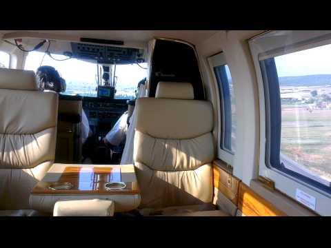 Sancak Air - Bell 430 VIP Helikopter - Helikopter'in içerisinden çekim