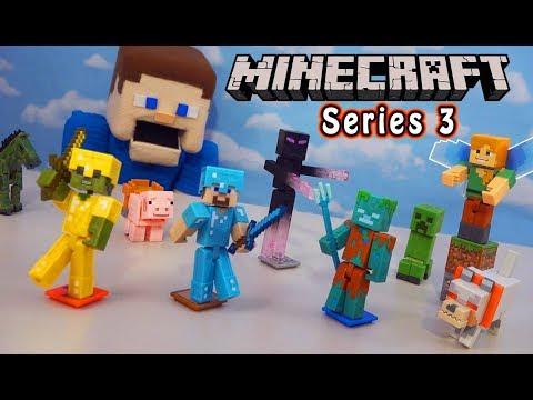 Minecraft Mattel Comic Maker Figures Series 3 Unboxing!