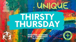 Thirsty Thursday Week 4 Oct  1st What Makes YOU Unique? and Mindfulness Activities