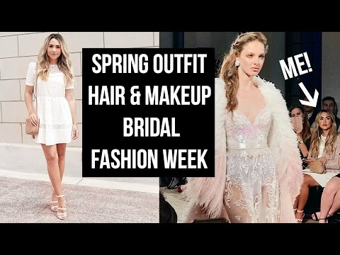 GRWM SPRING OUTFIT, MAKEUP & HAIR! COME TO BRIDAL FASHION WEEK WITH ME!. http://bit.ly/2Wafrvz