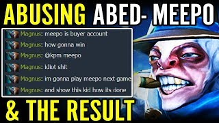 Abusing Meepo ABED and Shocking Result ABED Meepo Dota 2