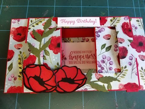 Theatre Fold Fancy Fold Card Using Poppy Moments
