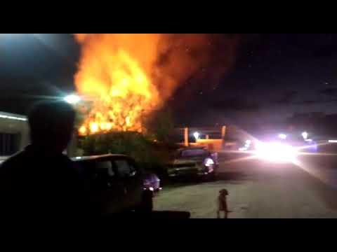 Explosión en un depósito de garrafas en San Benito