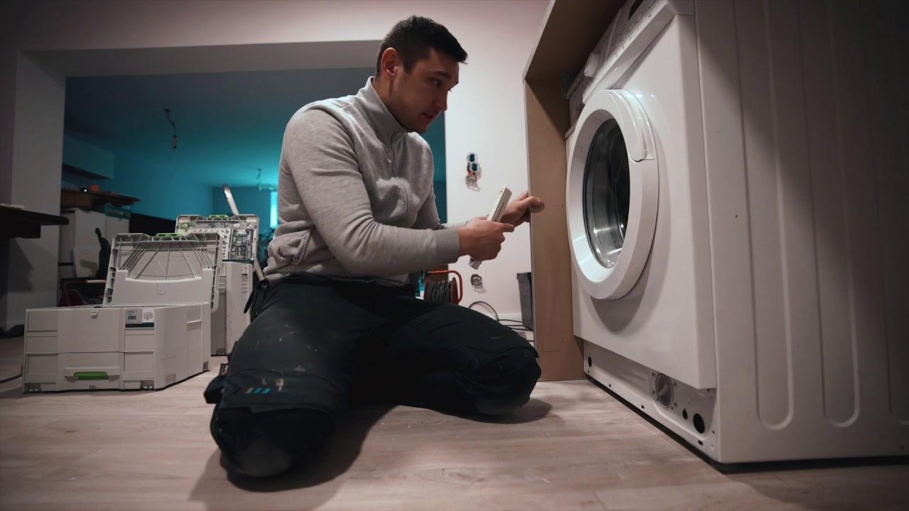 Waschmaschine verstecken in einer IKEA Küche