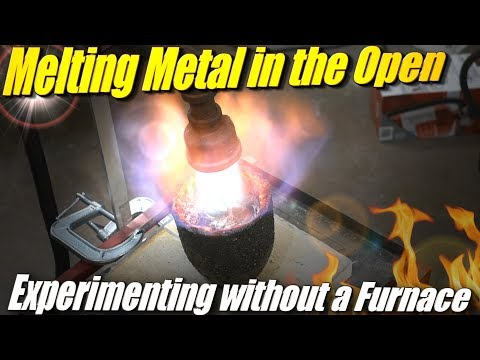 Attempting to Melt Aluminum without a Foundry Furnace Using a Forced Air Propane Burner