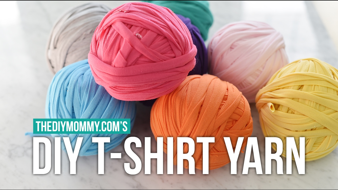 How to make continuous t shirt yarn from knit jersey for Thick material t shirts