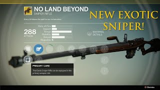 Destiny Dark Below - First Look Exotic Sniper :No Land Beyond Gameplay! PSX Exclusive Gameplay!