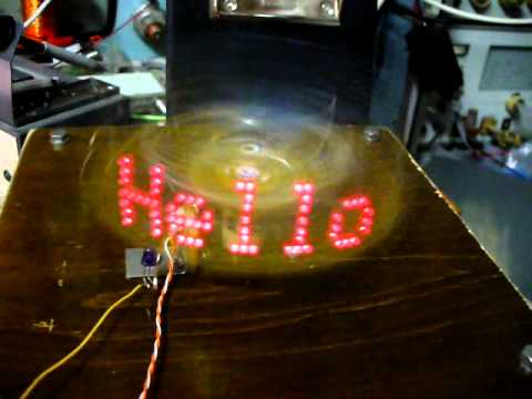 Virtual display - spinning LEDs
