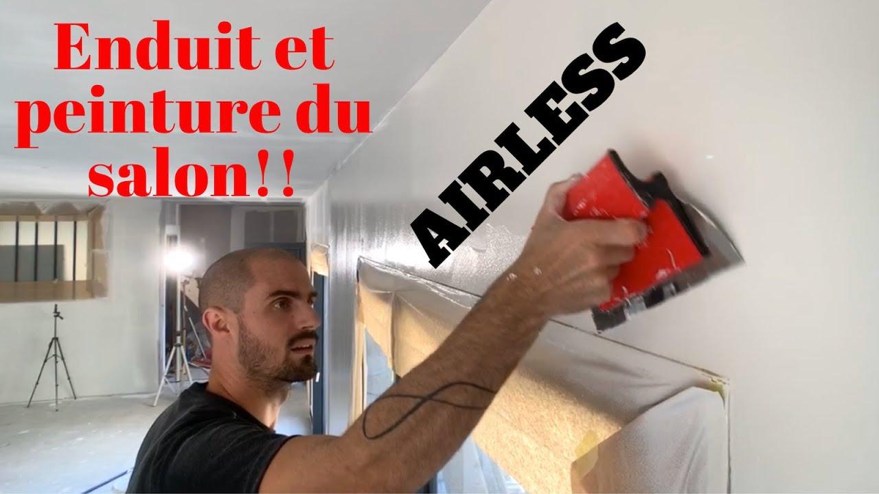 Enduit Et Peinture Du Salon à L Airless