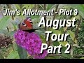 Jims Allotment - Plot 9 - August Tour Part 2 - Seeds, Sheds and Flower beds