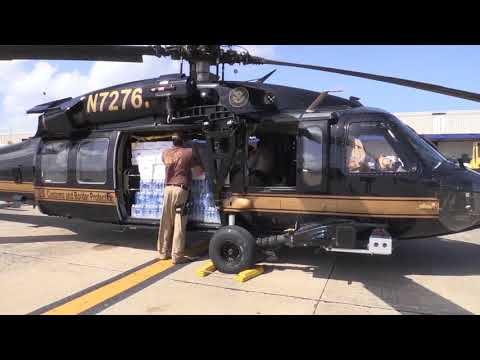 CBP Air and Marine Operations Loads Emergency Supplies