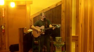 "Crash Coffin's ""blue Frog Song"" (cover) Gary Hall Live @ Caribou Coffee"