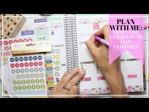 Plan with me: How I use stamps in my Erin Condren