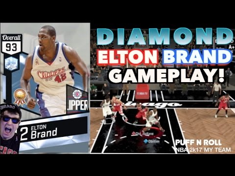 DIAMOND ELTON BRAND GAMEPLAY! MY TEAM ONLINE NBA 2K17! EXPOSED! RAGE! CHEESE! TRASH!