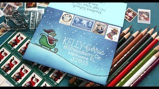 Creating an Envelope Scene - Monthly Mail Art with Kristina Werner, December 2018