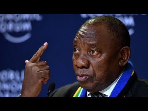 Cyril Ramaphosa sworn in as new South Africa president amid protests