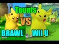 Taunt Comparisons in Super Smash Bros Wii U and Brawl  Graphic  Voice  Taunt Changes