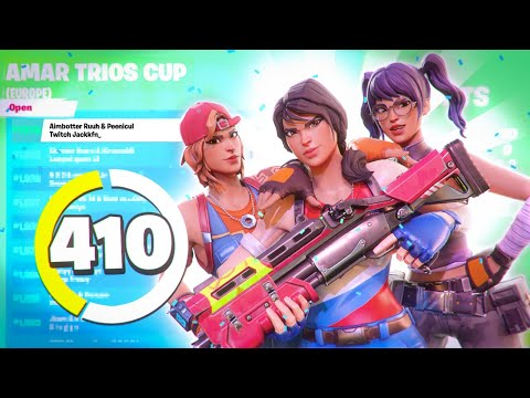 I Played My First EVER Trio Cup And This Happened... (Fortnite Battle Royale)