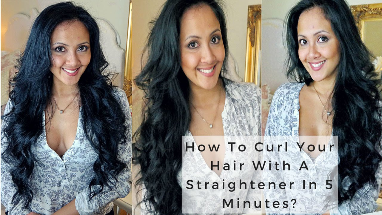 ways to style hair with straightener how to curl your hair with a straightener in 5 minutes 3282 | maxresdefault