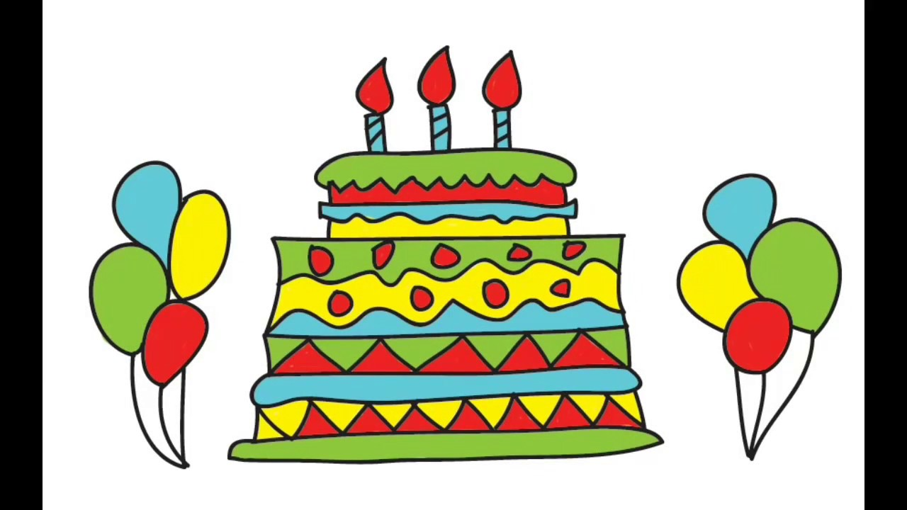 How to draw birthday cake | cake draw