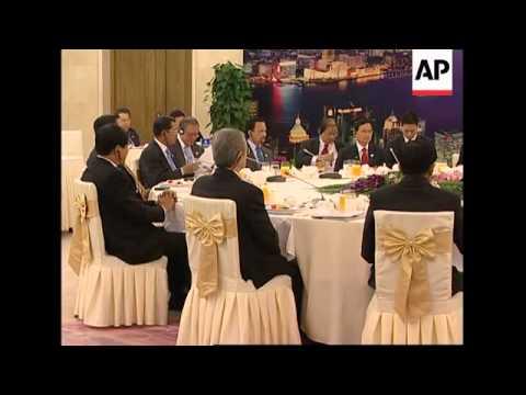 China PM Wen Jiabao meets Asian leaders at ASEM