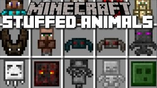Minecraft STUFFED ANIMALS MOD / PLAY WITH ALL MOBS SAFELY AS TOYS!! Minecraft