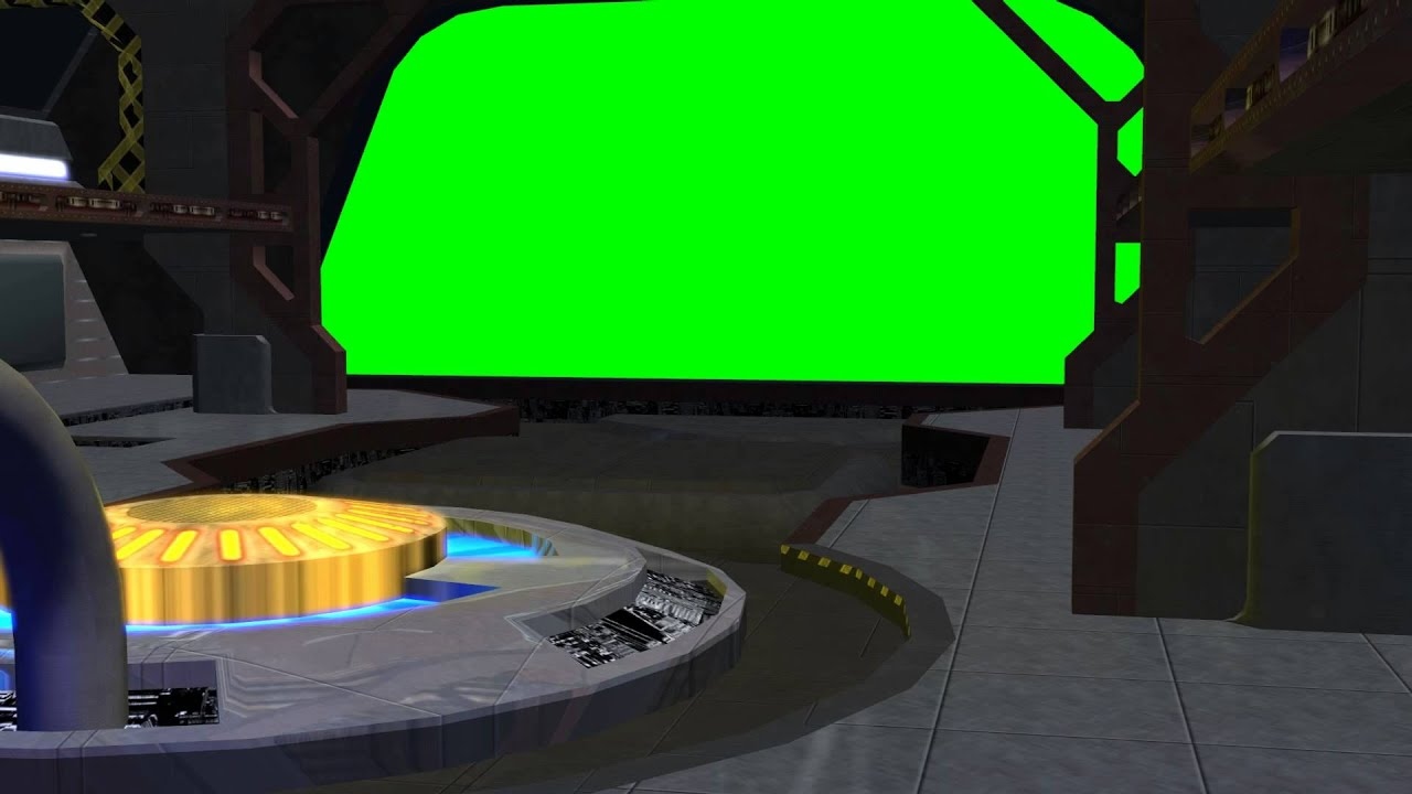 Spaceship Hangar Video Background Set With Sound C