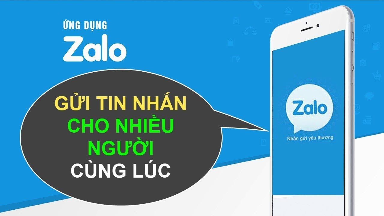Cách gửi tin nhắn đồng thời cho nhiều người trong Zalo