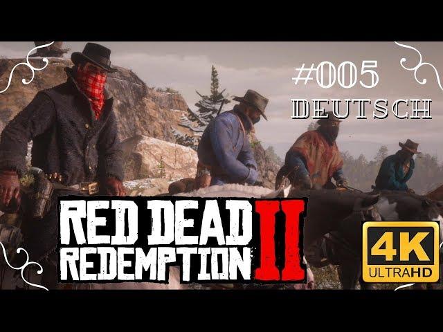 Red Dead Redemption II in 4k - #005 - Der Zugüberfall [Deutsch, ohne Werbung, 4k, UHD, PS4Pro]