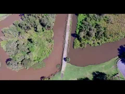 Sherwood Arboretum drone flyover after Brisbane May 2015 flooding