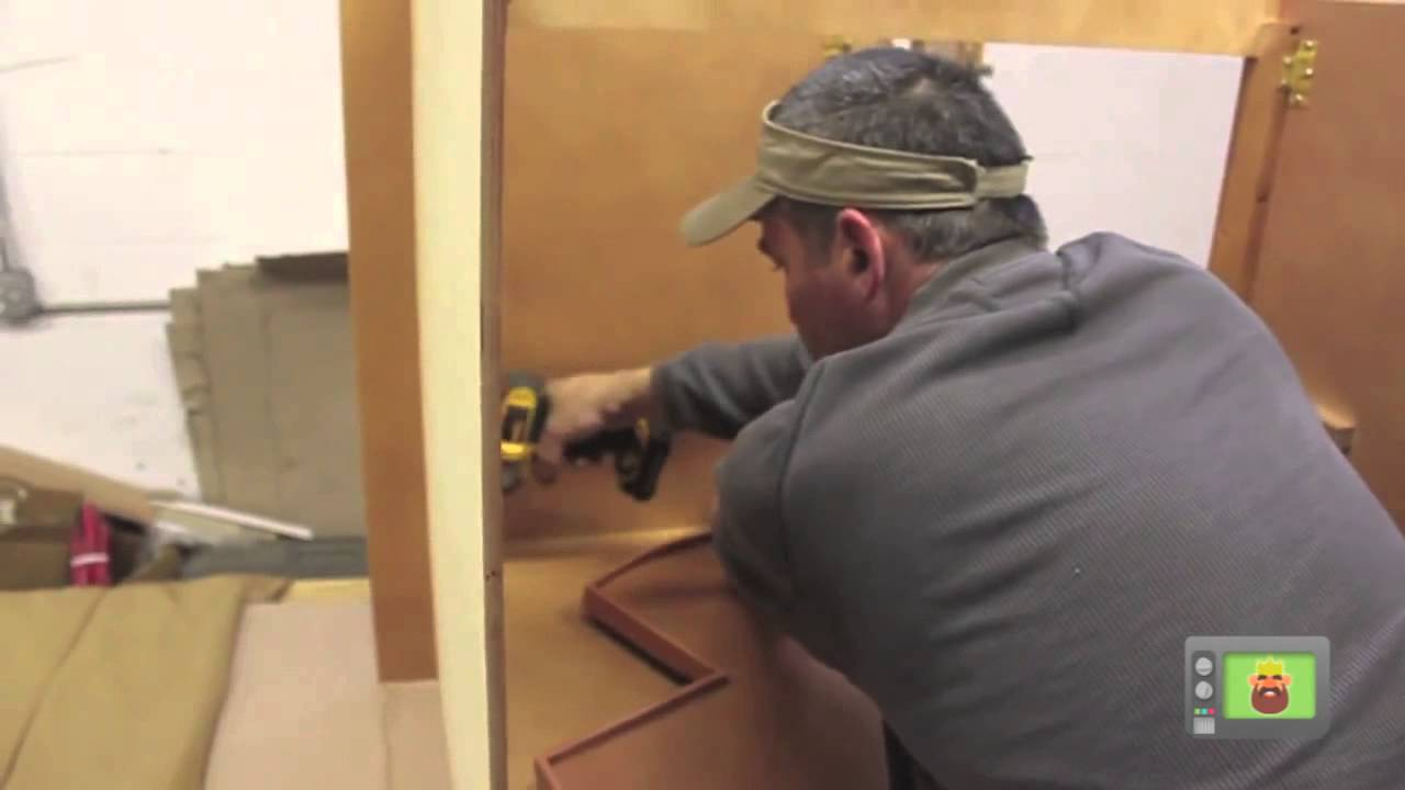 how to assemble a lazy susan cabinet kitchen cabinet kings youtube