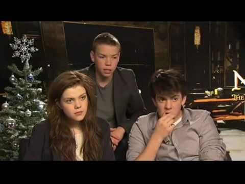 Georgie Henley, Will Poulter and Skandar Keynes