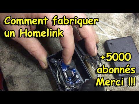 [COMMENT FABRIQUER UN HOMELINK POUR UNE DIZAINE D'EUROS] +5000 abonnés... MERCI !!!