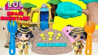 BRAIN MOUNTAIN TREASURE HUNT LOL Surprise Pharaoh Babe Twins Find Treasure