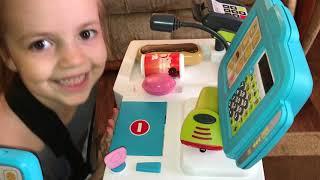 Играем в супермаркет.Обзор Игрушек.Видео для детей. Play Toy Supermarket.Family fun.Toys for kids.