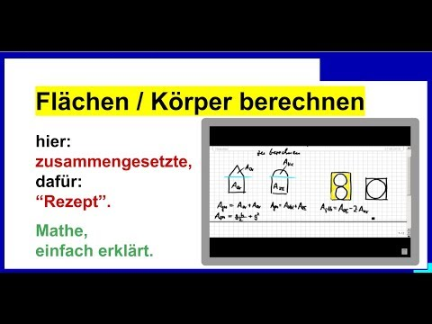 zusammengesetzte fl chen bzw k rper volumen berechnen rezept youtube. Black Bedroom Furniture Sets. Home Design Ideas