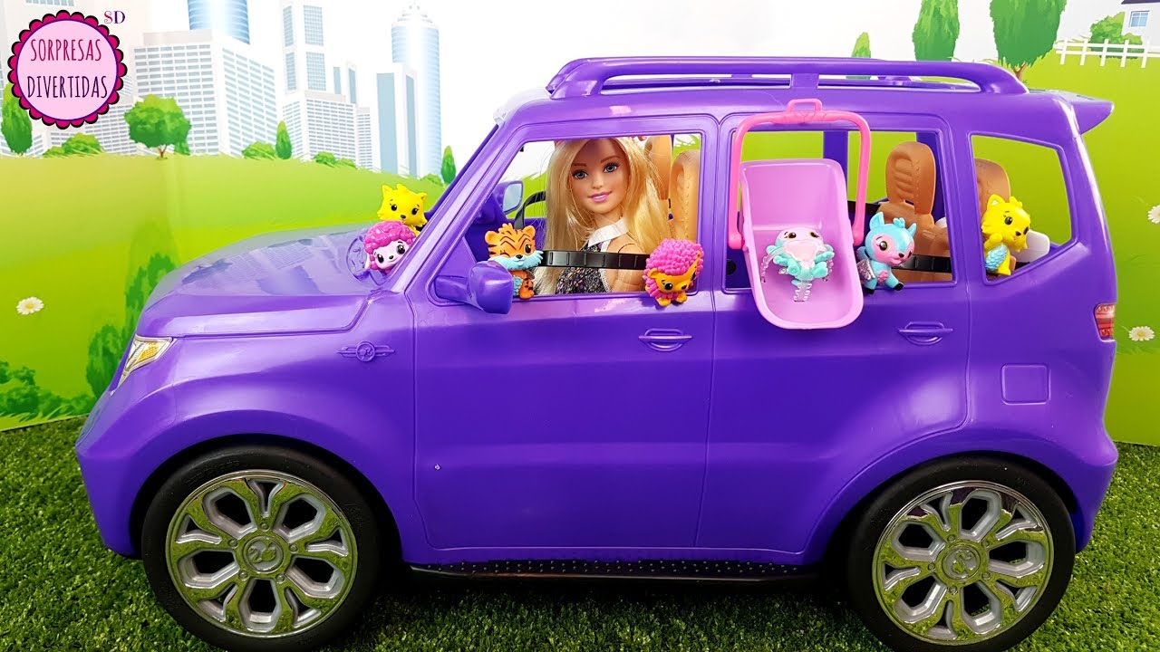 Barbie Paseo En Coche A Los Bebes Hatchimals Nuevo Juguete Youtube