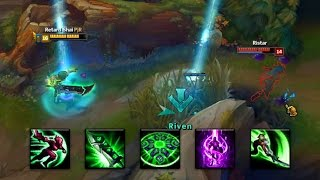 NEW OP RIVEN TELEPORT ANIMATION CANCEL TRICK!   Guess the elo #1