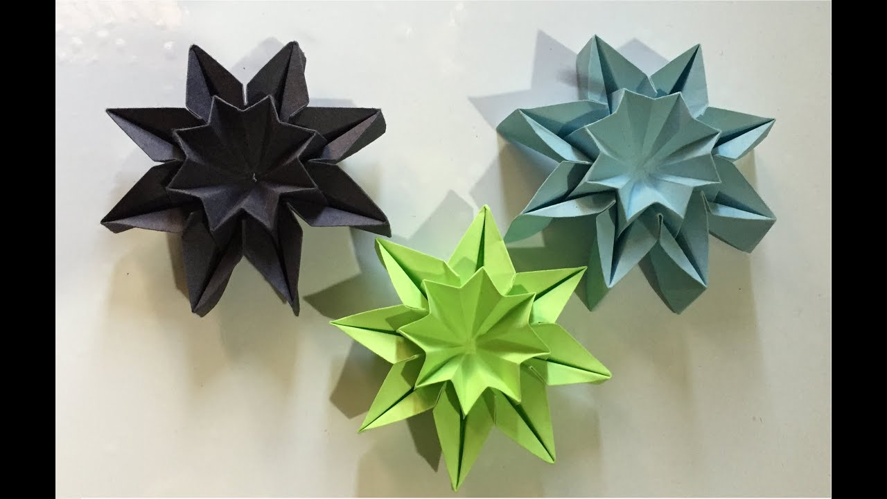 Origami star flowers wall decor youtube youtube premium mightylinksfo